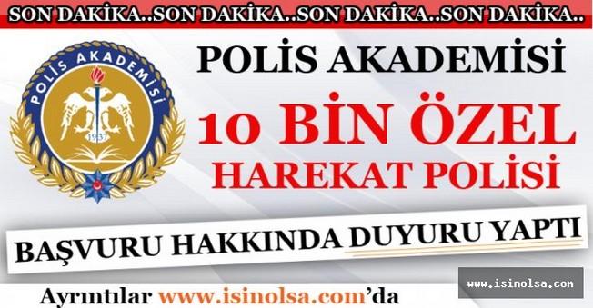 10 Bin Özel Harekat Polisi Alımı Hakkında Duyuru Yapıldı - 08 Ekim 2016