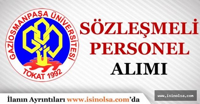 Gaziosmanpaşa Üniversitesi Sözleşmeli Personel Alımı