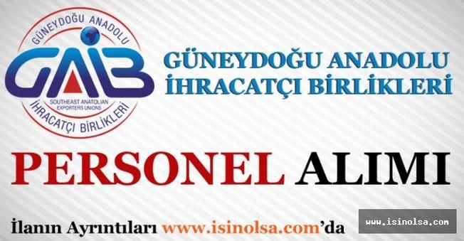 Güneydoğu Anadolu İhracatçı Birlikleri Memur Alımı