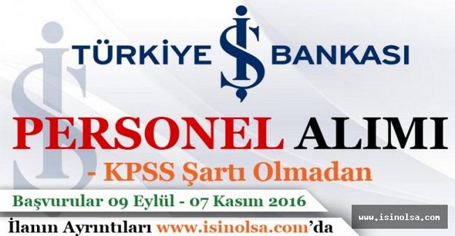 İş Bankası Personel Alımı 2016