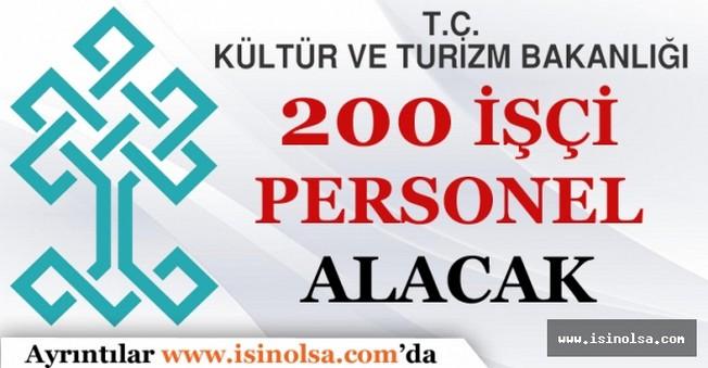 Kültür ve Turizm Bakanlığı 200 İşçi Alımı Yapacak