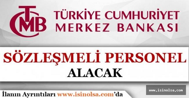 Merkez Bankası Sözleşmeli Personel Alımı 2016