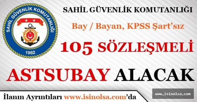 Sahil Güvenlik Komutanlığı 105 Sözleşmeli Astsubay Alacak