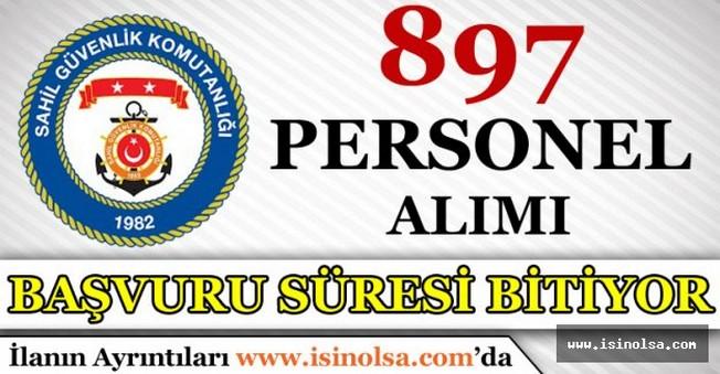 Sahil Güvenlik Komutanlığı 897 Personel Alımı Başvuru Süreleri Bitiyor
