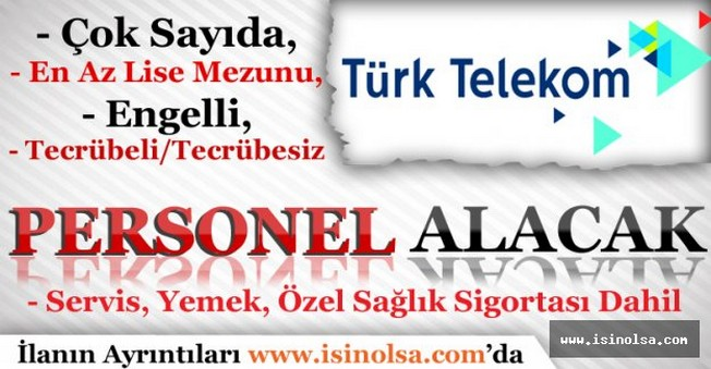 Türk Telekom Personel Alımları Ekim 2016