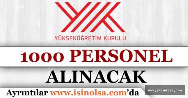 YÖK İçin 1.000 Kişilik Personel Alımı Yapılacak