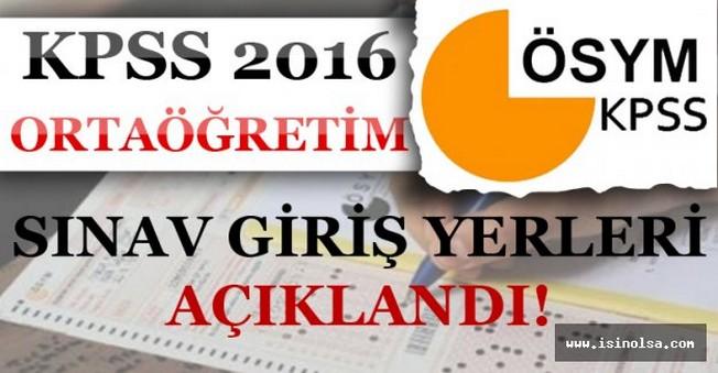 2016 KPSS Ortaöğretim Sınav Giriş Yerleri Belgesi Açıklandı! Öğrenme Ekranı