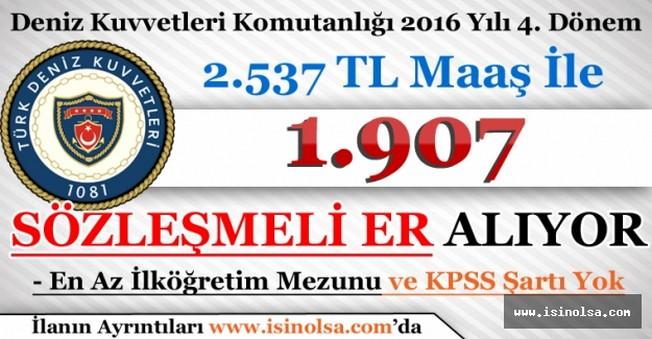 DKK En Az İlköğretim Mezunu 1.907 Sözleşmeli Er Alıyor