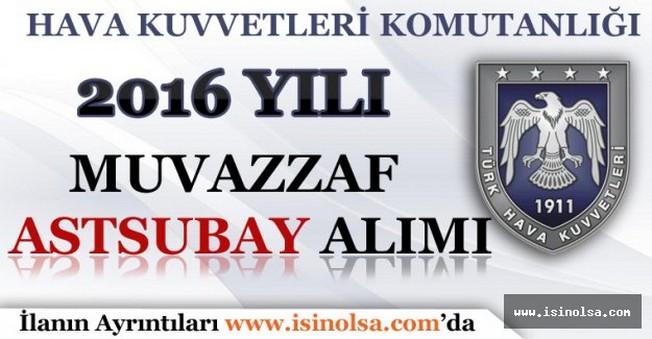 Hava Kuvvetleri Komutanlığı 2016 Yılı Muvazzaf Astsubay Alımı