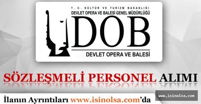 Mersin Devlet Opera ve Balesi Sözleşmeli Personel Alımı 2016
