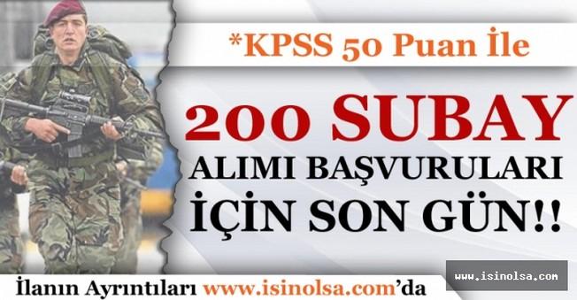 Özel Kuvvetler Komutanlığı 200 Subay Alımı Başvuruları İçin Son Gün!