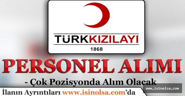 Türk Kızılayı Çok Sayıda Personel Alıyor