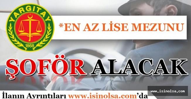 Yargıtay Şoför Alımı