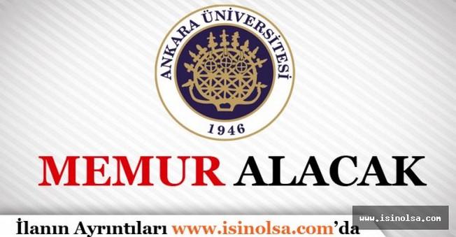 Ankara Üniversitesi Memur Alımı