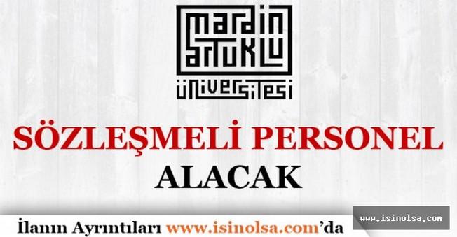 Mardin Artuklu Üniversitesi Sözleşmeli Personel Alımı