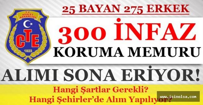 CTE 25 Bayan 275 Erkek İnfaz Koruma Memuru Alımı Başvuruları Sona Eriyor!
