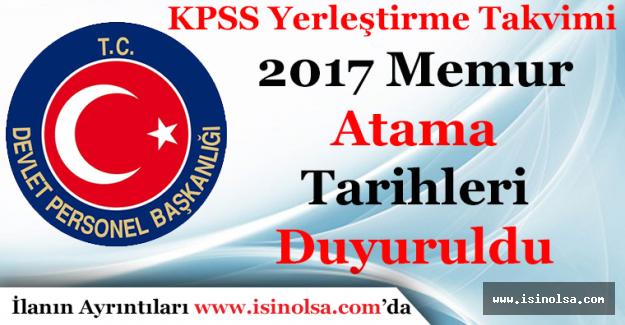 Devlet Personel Başkanlığı 2017 Yılı KPSS Yerleştirme Takvimini Açıkladı