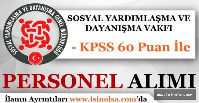 SYDV 60 KPSS Puanı İle Kamu Personeli Alıyor
