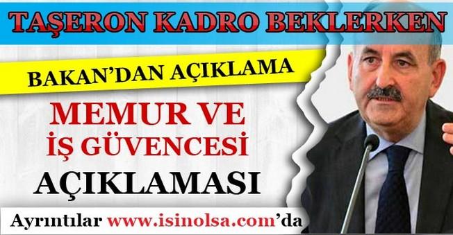Bakan Müezzinoğlu'dan Memur ve İş Güvencesi Açıklaması