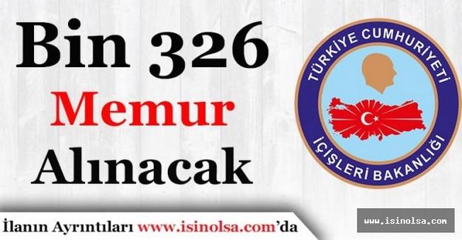 İçişleri Bakanlığı Bin 326 Memur Alımı Yapacak
