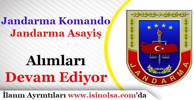 Jandarma Komando ve Jandarma Emniyet Asayiş Alımı Yapılıyor