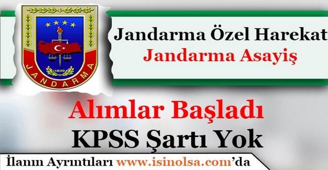 Jandarma Özel Harekat (Jandarma Komando) ve Jandarma Asayiş Alımları Başladı
