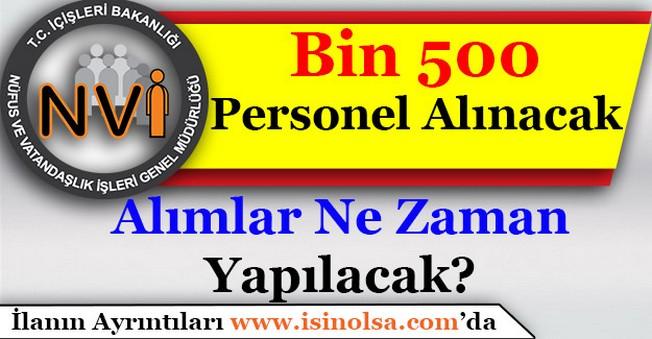 Nüfus Müdürlüklerine Bin 500 Personel Alımı Yapılacak