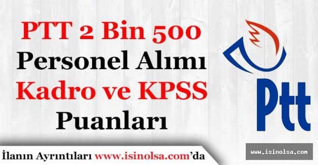 PTT 2 Bin 500 Personel Alacak! Eski Alımlara Göre Kadro ve KPSS Puanları