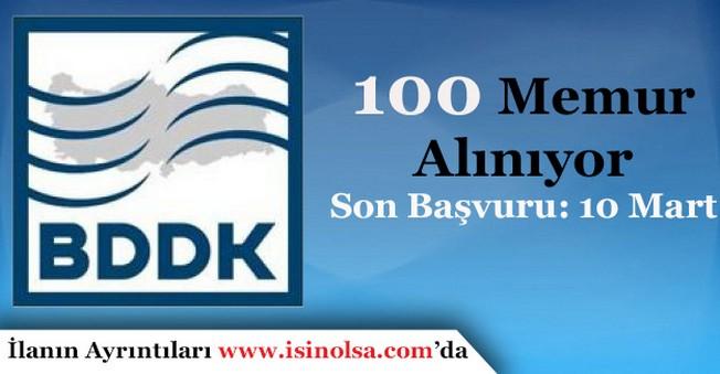 BDDK 100 Memur Alımı Başvurular Sürüyor