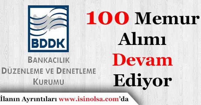 BDDK 100 Memur Personel Alımı Yapıyor