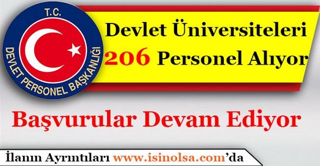 Devlet Üniversiteleri 206 Personel Alımı Yapacak