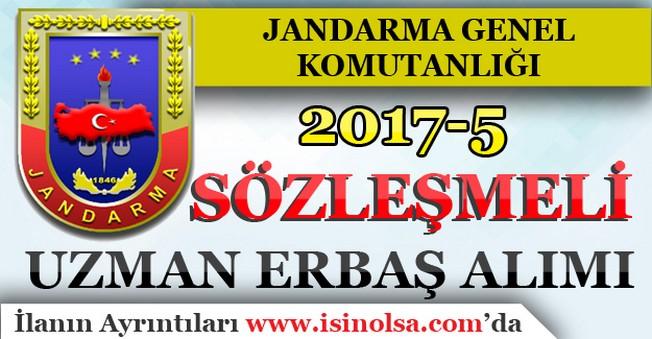 Jandarma 2017-5 Sözleşmeli Uzman Erbaş Alımı İlanı