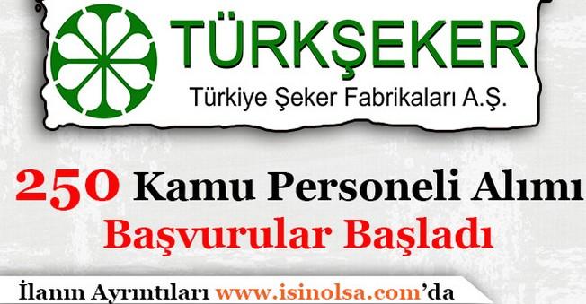 Türkiye Şeker Fabrikaları 250 Kamu Personeli Alımı Başladı
