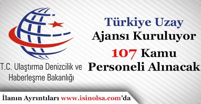 Türkiye Uzay Ajansı Kurulmasına Karar Verildi! 107 Kamu Personeli Alınacak!