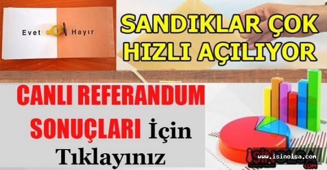 16 Nisan 2017 Referandum Sonuçları Evet - Hayır Oy Yüzdeleri Oranları (Türkiye Geneli)