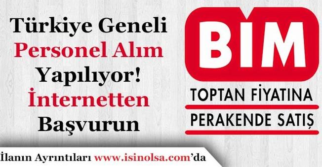 BİM Çok Sayıda Türkiye Geneli Personel Alımı Yapacak!