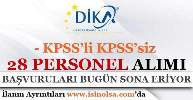 Dicle Kalkınma Ajansı KPSS li KPSS siz Personel Alımı Başvuruları Bugün Son!