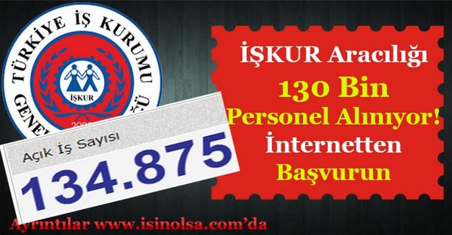 İŞKUR Türkiye Geneli 130 Bin Personel Alıyor! (Kamu - Özel Sektör)