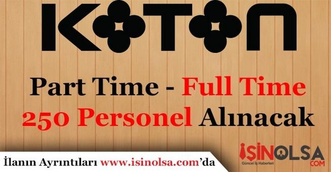 Koton 250'ye Yakın Personel Alacak! Başvurular Başladı