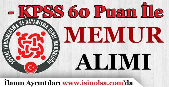 Sakarya Akyazı SYDV KPSS 60 Puan İle Personel Alımı