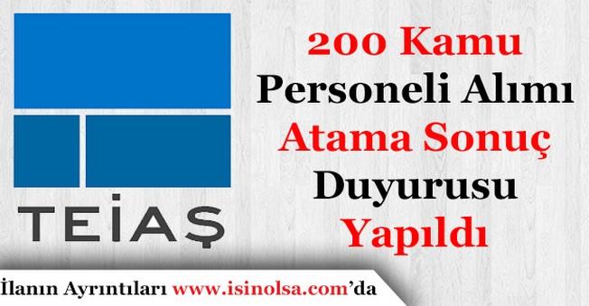 Türkiye Elektrik İletim (TEİAŞ) 200 Kamu Personeli Ataması Sonuçlarını Duyurdu!