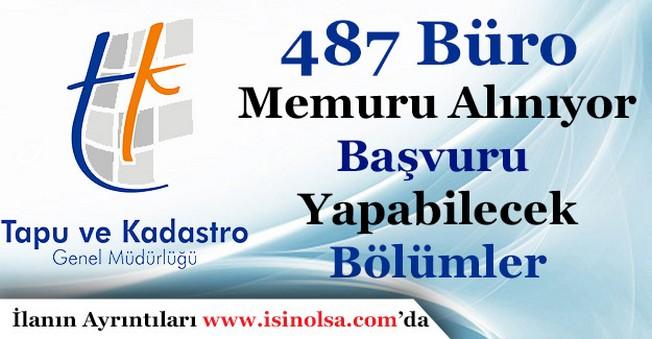 487 Büro Memuru Alınıyor! En Az Önlisans Mezunu Başvuru Yapabilecek Bölümler
