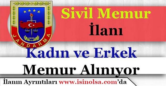 Jandarma Genel KomutanlığıKadın ve ErkekSivil Memur Alımı Yapıyor!