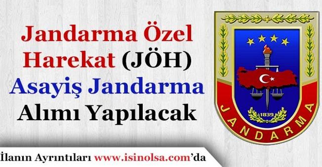 Jandarma Özel Harekat ve Asayiş Jandarma Alım İlanı Yayımlandı