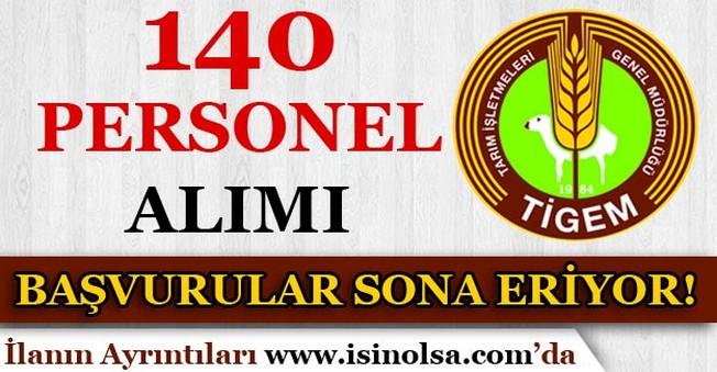 Tarım İşletmeleri Genel Müdürlüğü 140 Personel Alımı Başvuruları Sona Eriyor!