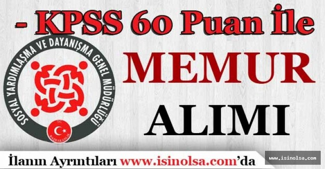 Diyarbakır Kayapınar SYDV KPSS 60 Puan İle Personel Alıyor!