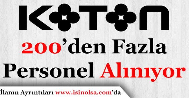 Koton 200'den Fazla Personel Alacak! Başvurular Başladı!