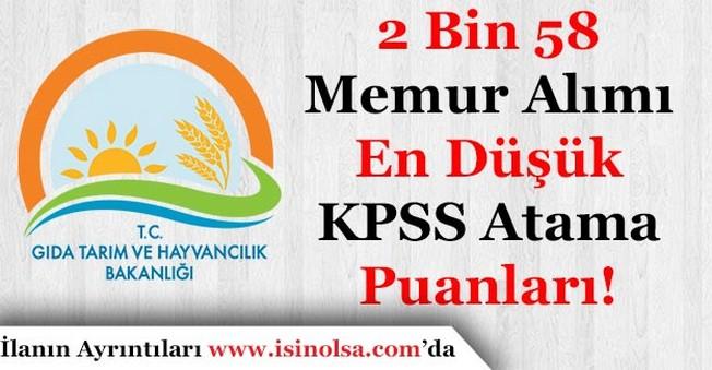 KPSS 2017/7 Kadrolara Göre En Düşük Atama KPSS Puanları