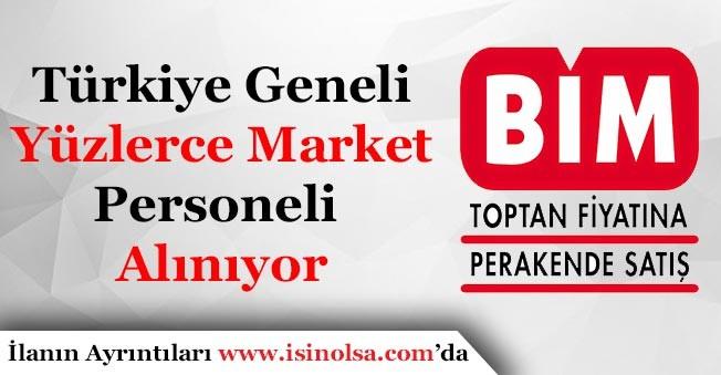 BİM Yüzlerce Market Personeli Alımı Yapıyor!