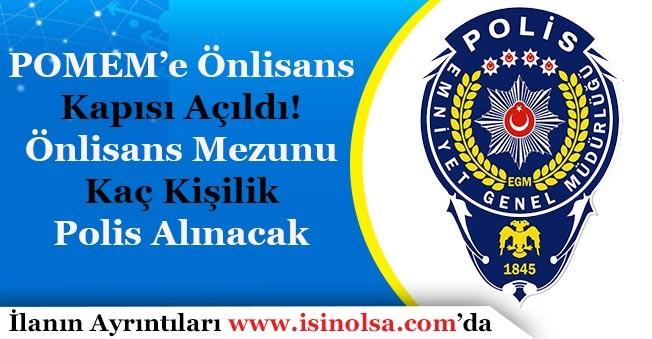 KHK ile POMEM'e Önlisans Kapısı Açıldı! Kaç Önlisans Polis Alımı Yapılacak